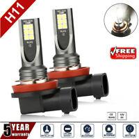 2x H8 H11 6000K White 100W High Powers Fog Light LED Drivings Bulbs DRL UK
