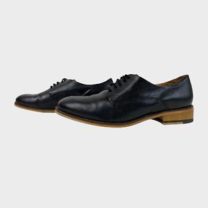 BERTIE Ladies Womens Shoes Size UK 3 EU 36 Black Lace up Low Heels