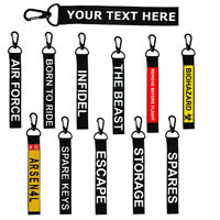 Custom Key Chain Keyring Luggage Personalized Name Text Tag Zipper Pull Bag