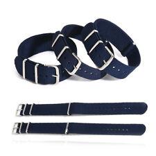 1× Canvas Nylon Fiber Wrist Watch Strap Watch Band Belt Clasp 18/20/22mm Fashion