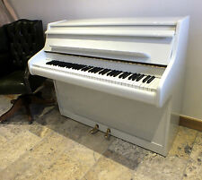 Small WHITE GLOSS Compact Upright Piano British Made Fully Restored 6 Six Octave