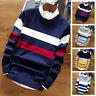 Men's Knitted Warm Pullover Tops Casual Long Sleeve Slim Fit Round Neck Sweater