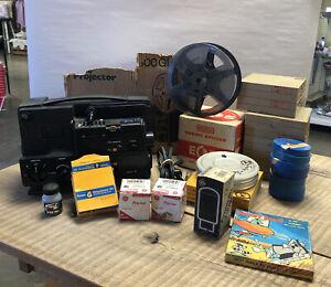 Chinon 2500GL Dual Super 8 Regular 8mm Cine Projector W/ Box/movies/Extras