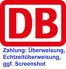 DB Deutsche Bahn Freifahrt Freiticket deutschlandweit, IC, ICE, EC flexibel
