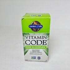 SEALED Garden Of Life Vitamin Code Raw B-Complex 120 Vegan Capsules Exp 02/2022