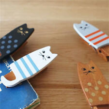4x/lot Lovely Cat Wooden Clip Bag Paper Clip Special Gift Fashion Wood Pegs Hot.