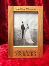 Oak Photo Picture Frame 5x7 Wedding Christening Birthday Retirement SALE SALE