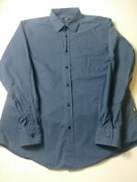 Hugo Boss Mens Slim Fit Shirt Size L Blue Geometric Long Sleeve Button Front