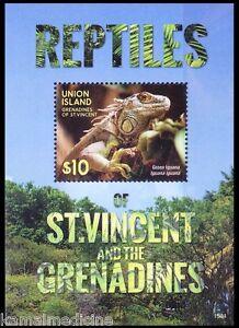 Gr. of St. Vincent 2015 MNH MS, Reptiles Lizard Green Iguana