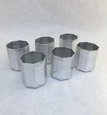 6 Octagon Votive Candle Molds  NEW Seamless Aluminum
