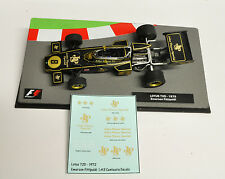 Emerson Fittipaldi LOTUS 72D 1972 JPS Decals 1:43 Formula 1 Car Collection
