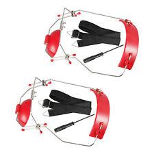 2 X Dental Orthodontic Adjustable Reverse Pull Headgear Red Color