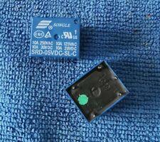 10pcs ORIGINAL SRD-05VDC-SL-C 5VDC SONGLE Relay 5Pins