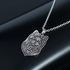 Halskette mit Yorkshire Terrier - Hunde Kopf Anhänger. Tibet Silber