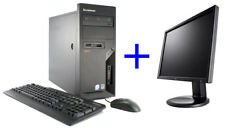PC Fisso Lenovo Thinkcentre M58E Intel C2D E7500 4GB 250GB + Monitor LCD LG 19""
