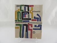 OLIVETTI 1908-1958 LIBRO CINQUANTENARIO DESIGN COPERTINA G. PINTORI IVREA UNESCO