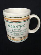 Vintage 1985 Hallmark Mugs Brother Someone Fun to Be Around Talk Laugh Japan Mug