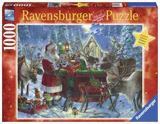 RAVENSBURGER CHRISTMAS PUZZLE*1000 TEILE*PACKT DEN SCHLITTEN*WEIHNACHTEN*RAR*OVP