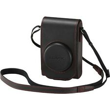 Panasonic DMW-PHS84XER Black Leather Case with Stylish Red Stiching Bag