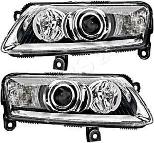 HELLA Headlight Left+Right 12V For AUDI A6 Allroad Avant A6l 4F 4F2 C6