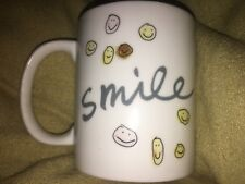 Contemporary Smile Smiley Face Ceramic Joanne Kidney Coffee Mug Cup NWOT