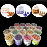1x Home Natural Fragrances Smoke Tower Cone Bullet Backflow Incense Hollow Cones