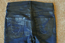 TRUE RELIGION HALLE 24X33 Printed Coated Jeans NWOT$314 Sexy Skinny Slim!Stretch