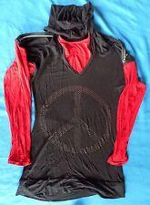 Sweat t-shirt à capuche Noir et Rouge taille 14Ans