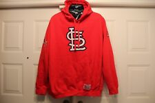 ST. LOUIS CARDINALS MAJESTIC HOODIE SIZE 2x LARGE XXL VERY NICE