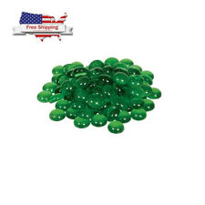 100 Pk Flat Glass Marbles or Pebbles for Vase Filler Green