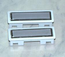2 x STR 10510W Namenschild Klingeltaster weiß f. Türstation 303 und 304