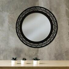 Wandspiegel Arabesc rund Handgefertigt aus Metall schwarz o. weiß, Ø:70 B-WARE!