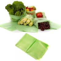 20 Pcs Green Fresh Food Vegetable Storage Bags Green Produce Kitchen Device