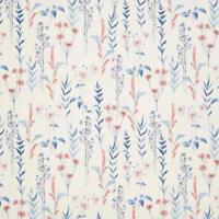 MASSIVE REMNANT John Lewis Longstock BLUE/CORAL Furnishing Fabric-App 137cmx1.5M