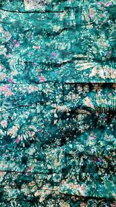 African ADIRE BATIK 100% Cotton Fabric Tie & Dye Print  Per Yard 35 by 45 inches