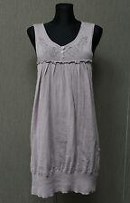CULTURE Damen Kleid Gr. L Dress Lilagrau Sleeveless TOP @3