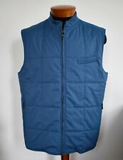 New LUCIANO BARBERA Blue Wool Quilted Sport VEST Sleeveless Jacket EU-56 XL