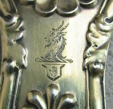 "MAGNIFICENT 1807 GEORGE III STERLING SILVER ROYAL GOLD GILT 12"" STUFFING SPOON"