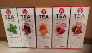 TEEKANNE Tealounge Früchtetee Kapseln, 40 Kapsel - 5 Sorten Teekapsel Tee Caps