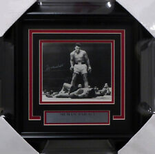 MUHAMMAD ALI AUTOGRAPHED FRAMED 6X7 PHOTO OVER LISTON #/7500 BECKETT 158296