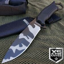 "10"" URBAN CAMO TACTICAL Fixed Blade SURVIVAL Full Tang COMBAT KNIFE W/ Sheath"