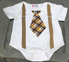 1st Birthday boy cake smash Romper Birthday Bodysuit tie suspenders 12 mo -18mo