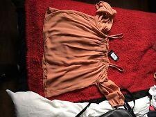 New Look Burnt Orange Cold Shoulder Long Sleeve Top Bnwt Size 8