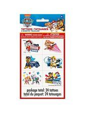Paw Patrol Temporary Tattoos 24 Pack Party Bag Filler BNIP Tattoo Birthday Pups