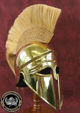 Medieval Greek Corinthian Helmet Battle Brass Steel Helmet With Plume Gift item