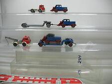 AI718-1# 5x Wiking H0 LKW Hanomag Zugmaschine/Harvester Abschleppwagen