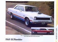 1969 AMC Hurst S/C Rambler Scrambler 390 ci 325 hp info/specs/photo 11x8