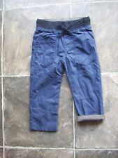 BNWT Boy's H & M Navy Lined Cotton Pants Size 2