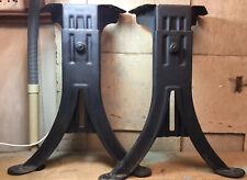 """1 Pair Kenney Bros. & Wolkins Inc. Adjustable Industrial Steel Legs - 17.5"""" Tall"""