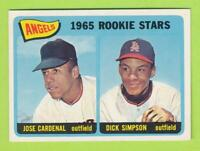 1965 Topps - Angels 1965 Rookie Stars  Jose Cardenal & Dick Simpson (#374) Ex-MT